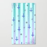 pastel goth Canvas Prints featuring Pastel Goth Pattern by HaruShadows