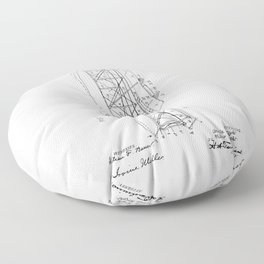 Wright Brothers Patent: Flying Machine Floor Pillow