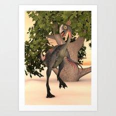 Dinosaur Gigantoraptor Art Print
