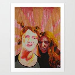 Thug Bunnies  Art Print