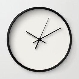 Cloud Dancer Wall Clock