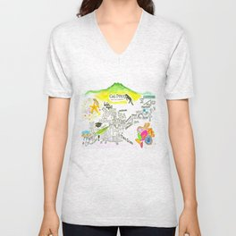 The happiest college in America Unisex V-Neck