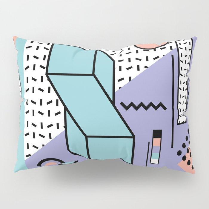 Memphis Pattern - 80s Retro - Pastel Colors Pillow Sham