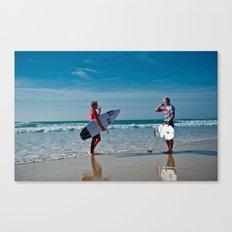 Pro Surfers before the battle Canvas Print