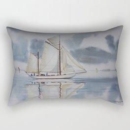 Quiet sailing Rectangular Pillow