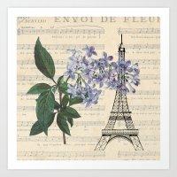 paris lilac Art Print