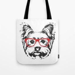 Portrait of Yorkshire Terrier Dog. Tote Bag
