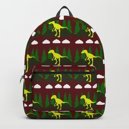 dino in the mountains red Backpack