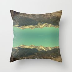 good afternoon mountains Throw Pillow