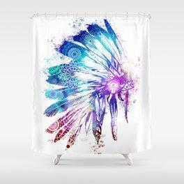 mandala colorful headdress Shower Curtain