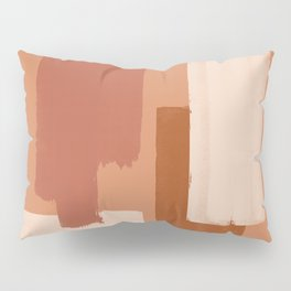 Burnt Orange Art, Terracotta Abstract Shapes Pillow Sham