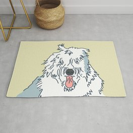 Scampy the Old English Sheep Dog Rug