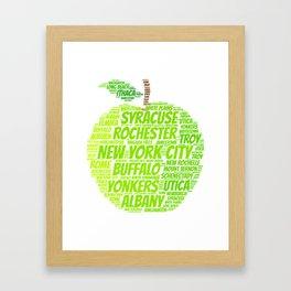 New York State Apple Framed Art Print