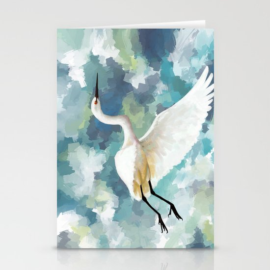 Florida Egret Stationery Cards