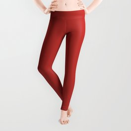 Valiant Poppy Pantone fashion color trend autumn fall Leggings