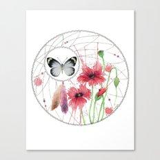 Dreamcatcher No. 2 - Butterfly Illustration Canvas Print