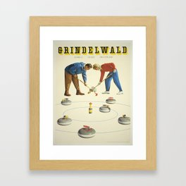 Vintage poster - Grindelwald Framed Art Print
