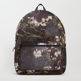 Vincent Van Gogh Almond Blossoms dark gray slate Backpack