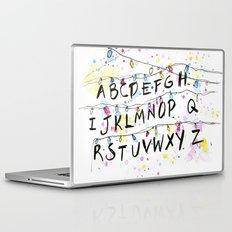 Stranger Things Alphabet Wall Christmas Lights Typography Laptop & iPad Skin