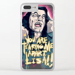 Tearing Me Apart Clear iPhone Case