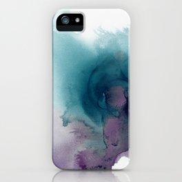 Teal Ultra Violet Vortex iPhone Case