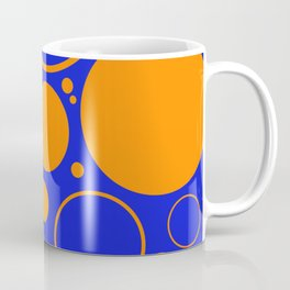 Bubbles And Rings In Orange And Blue Coffee Mug