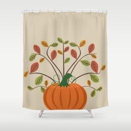 Fall Pumpkin Shower Curtain