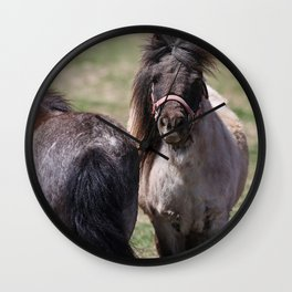 Heads Or Tails Mini Horses Wall Clock