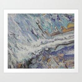 Intergalactic Space Waves Art Print