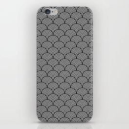 Black Concentric Circle Pattern iPhone Skin