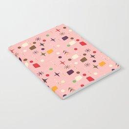 Atomic Pattern Pink Purple  #midcenturymodern Notebook