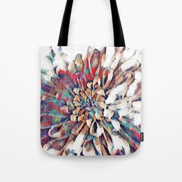 Japanese Inspired Lily Design Sketch Tote Bag