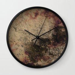 Grunge wall texture Wall Clock