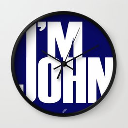 I'M JOHN (blue) Wall Clock