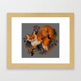 Sly Fox Spirit Animal Framed Art Print