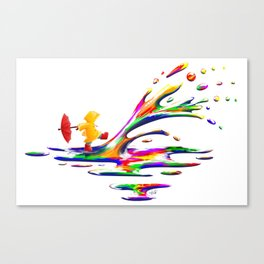 Splashing Canvas Print