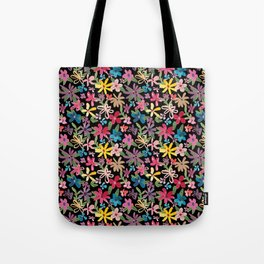 Scattered Watercolor Floral Tote Bag