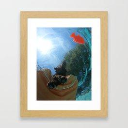 Below the Surface Framed Art Print