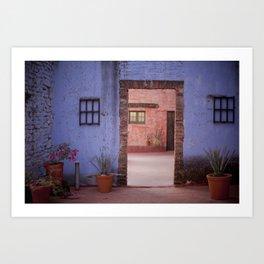Hacienda Door Art Print