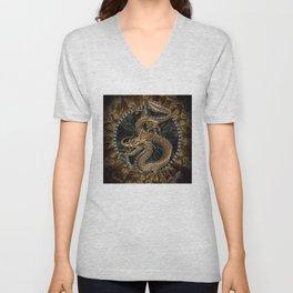 Dragon Pentagram Unisex V-Neck