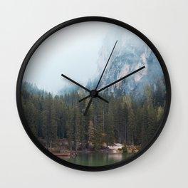 Lake Braies Wall Clock