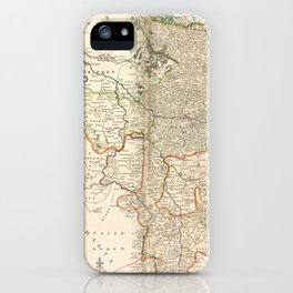 A new & exact map of the electorat of Brunswick-Lunenburg and ye rest of ye Kings Dominions in Germany iPhone Case