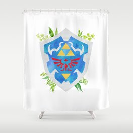 One Shield to Hyrule Them All Shower Curtain
