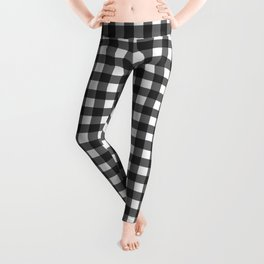 Black and White Gingham Pattern Leggings