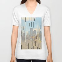 dallas V-neck T-shirts featuring Dallas by Calepotts