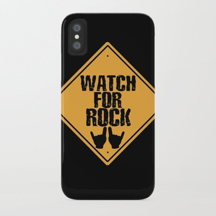 Watch For Rock iPhone Case