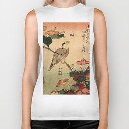 Hokusai,Hawfinch and mirabilis - manga, japan,hokusai,japanese,北斎,ミュージシャン Biker Tank