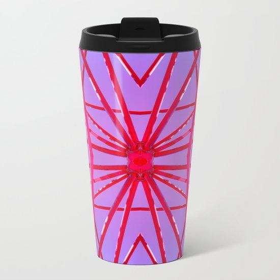 Red Iron Tubes Metal Travel Mug