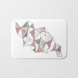 Pink Geometric Triangles Bath Mat