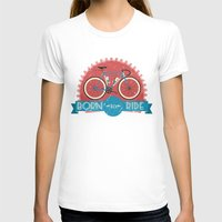 brompton T-shirts featuring Born to Ride by Wyatt Design